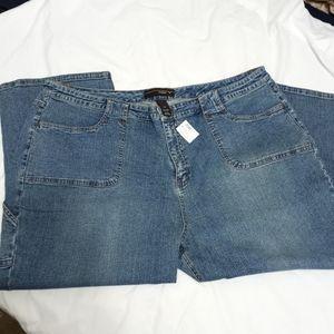 Lane Bryant Venezia Crop Blue Jeans NWT 28